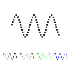 Sinusoid waves flat icon vector
