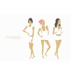 slender shape fitness girls vector image