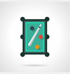 Snooker table flat color icon vector