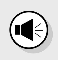 sound sign with mute mark vector image vector image