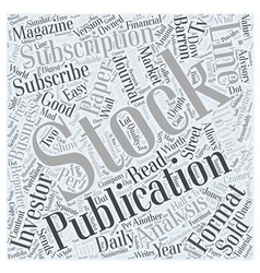 Subscribe to stock publication word cloud concept vector