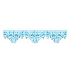 Top edge abstract with butterflies and flowers vector