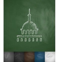 United states capitol icon hand drawn vector