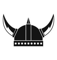 Viking helmet icon simple style vector image vector image