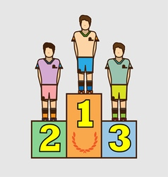 Winners podium design digital image vector