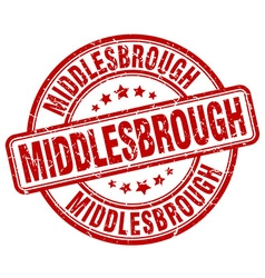 Middlesbrough stamp vector
