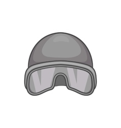 Hat and sunglasses tanker icon monochrome style vector