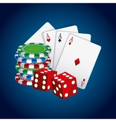 Poker cards game casino vector