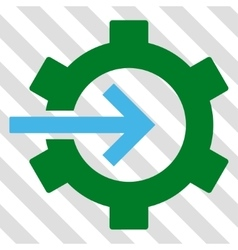 Cog integration icon vector