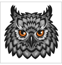 Owl head - isolated on white vector