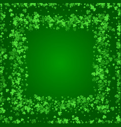 Square saint patricks day background with clover vector