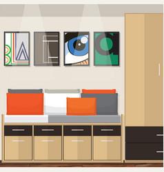 Room idea design vector