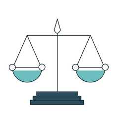 Scale justice isolated icon vector