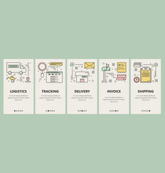 Thin line flat design e-commerce concept vector