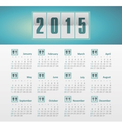 Calendar 2015 year with gradient vector