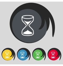 Hourglass sign icon sand timer symbol set of vector