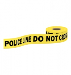 Police tape with text vector