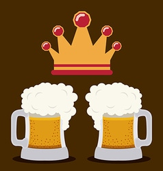 Beer design vector image