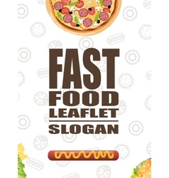 Fast food flat banner for decoration websites vector
