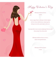 valentines glamour background vector image