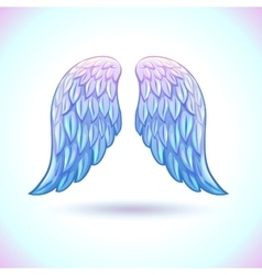 Beautiful cartoon angel wings vector