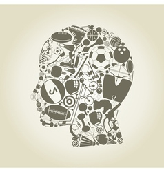 Head sports vector image