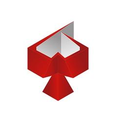 Bird 3d logo vector