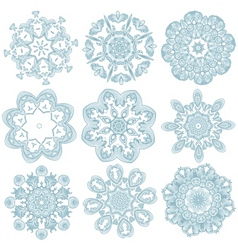 Blue embroidery vector