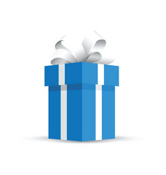 Blue present gift vector