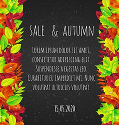 bright background with autumn leaves vector image vector image