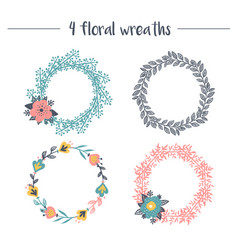 collection of wreaths vector image vector image