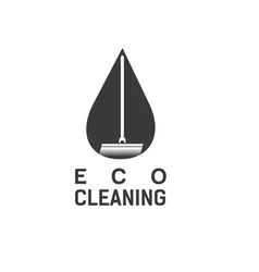 eco cleaning design template vector image vector image