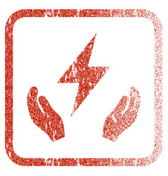 Electricity maintenance hands framed textured icon vector