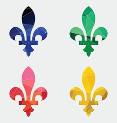 fleur-de-lys icon Abstract Triangle vector image