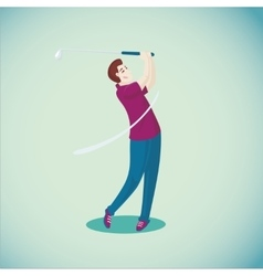 Golf player Isolated cartoon character Sport vector image vector image