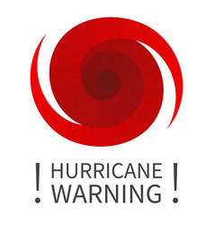 Graphic banner of hurricane warning vector