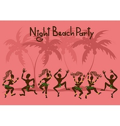 Invitation to a beach party vector