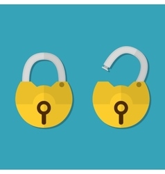 Lock open and lock closed vector image vector image
