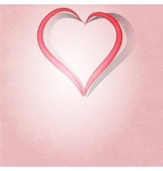 Painted brush heart shape background vector image