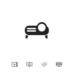 set of 5 editable cinema icons includes symbols vector image vector image