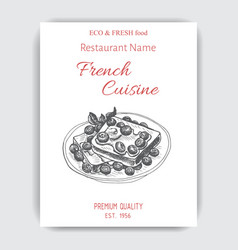 sketch - french toast card vector image