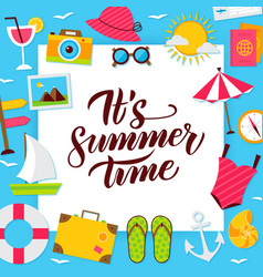Summer time paper concept vector