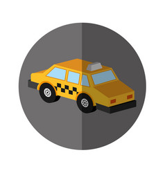 taxi service isometric icon vector image vector image