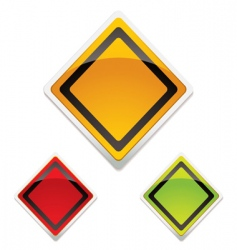 warning sign trio vector image vector image