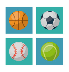 white background with squares set of ball of vector image vector image