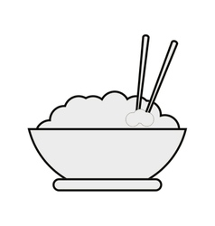 Rice bowl icon vector