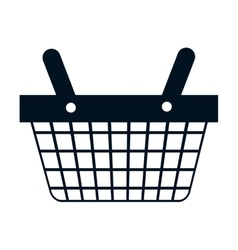 Shopping basket commercial icon vector
