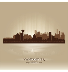 Vancouver british columbia skyline city silhouette vector