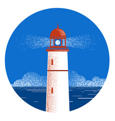 Lighthouse seascape logo vector