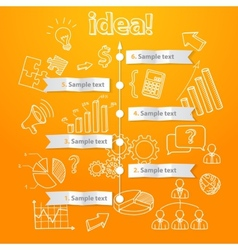 Process of idea generation business vector